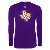 Under Armour Purple Long Sleeve Tech Tee-PVAM Texas
