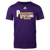 Adidas Purple Logo T Shirt-PV Marching Storm Band
