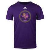 Adidas Purple Logo T Shirt-PVAM Marching Band Seal