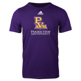 Adidas Purple Logo T Shirt-PVAM Stacked