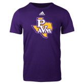 Adidas Purple Logo T Shirt-PVAM Texas