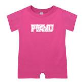 Bubble Gum Pink Infant Romper-PVAMU