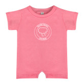 Bubble Gum Pink Infant Romper-Marching Storm Cloud Circle