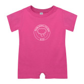 Bubble Gum Pink Infant Romper-Marching Storm Cloud Circle - Kid