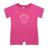 Bubble Gum Pink Infant Romper-Marching Storm Cloud Circle - Future