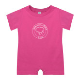 Bubble Gum Pink Infant Romper-Marching Storm Cloud Circle - Fan