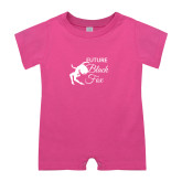 Bubble Gum Pink Infant Romper-Future Black Fox