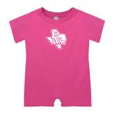 Bubble Gum Pink Infant Romper-PVAM Texas