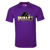 Adidas Climalite Purple Ultimate Performance Tee-Official Logo