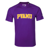 Adidas Climalite Purple Ultimate Performance Tee-Arched PVAMU