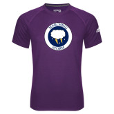 Adidas Climalite Purple Ultimate Performance Tee-Marching Storm Cloud Circle