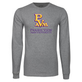 Grey Long Sleeve T Shirt-PVAM Stacked