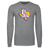 Grey Long Sleeve T Shirt-PVAM Texas