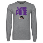 Grey Long Sleeve T Shirt-Panther Pride