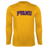 Performance Gold Longsleeve Shirt-Arched PVAMU