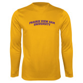 Performance Gold Longsleeve Shirt-Arched Prairie View A&M