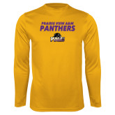 Performance Gold Longsleeve Shirt-Stacked Prairie View A&M Panthers