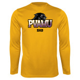 Performance Gold Longsleeve Shirt-Dad
