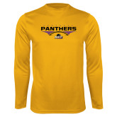 Performance Gold Longsleeve Shirt-Football Design