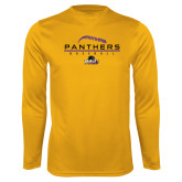 Syntrel Performance Gold Longsleeve Shirt-Baseball Design
