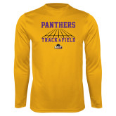 Performance Gold Longsleeve Shirt-Track & Field Design