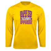 Syntrel Performance Gold Longsleeve Shirt-Praire View marching Storm w/ Majors