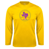 Syntrel Performance Gold Longsleeve Shirt-PVAM Marching Band Seal