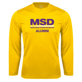 Syntrel Performance Gold Longsleeve Shirt-MSD Alumni