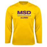 Performance Gold Longsleeve Shirt-MSD Alumni
