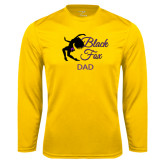 Syntrel Performance Gold Longsleeve Shirt-Black Fox Dad