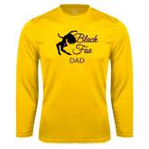 Performance Gold Longsleeve Shirt-Black Fox Dad