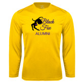 Syntrel Performance Gold Longsleeve Shirt-Black Fox Alumni