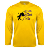 Syntrel Performance Gold Longsleeve Shirt-Future Black Fox