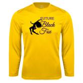 Performance Gold Longsleeve Shirt-Future Black Fox