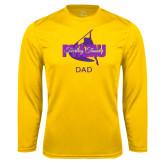 Performance Gold Longsleeve Shirt-Twirling Thunder Dad