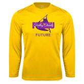 Performance Gold Longsleeve Shirt-Future Twirling Thunder