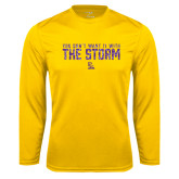 Syntrel Performance Gold Longsleeve Shirt-You Dont Want It With The Storm
