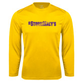 Syntrel Performance Gold Longsleeve Shirt-#StormMacys