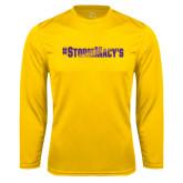 Performance Gold Longsleeve Shirt-#StormMacys