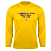 Performance Gold Longsleeve Shirt-The Storm To NYC w/ Cloud