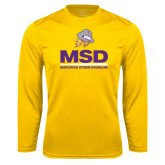 Syntrel Performance Gold Longsleeve Shirt-MSD w/ PVAM Logo