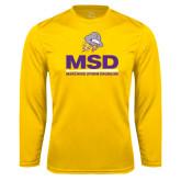 Performance Gold Longsleeve Shirt-MSD w/ PVAM Logo