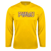 Syntrel Performance Gold Longsleeve Shirt-PVAMU Black Fox Overlap