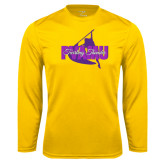 Syntrel Performance Gold Longsleeve Shirt-PVAMU Twirling Thunder Logo