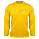 Syntrel Performance Gold Longsleeve Shirt-PVAMU Twirling Thunder Logo