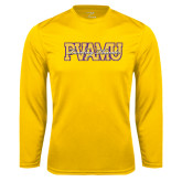 Syntrel Performance Gold Longsleeve Shirt-PVAMU Twirling Thunder Overlap