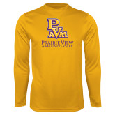 Performance Gold Longsleeve Shirt-PVAM Stacked