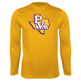 Performance Gold Longsleeve Shirt-PVAM Texas