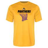 Performance Gold Tee-Basketball Design