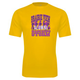 Syntrel Performance Gold Tee-Praire View marching Storm w/ Majors